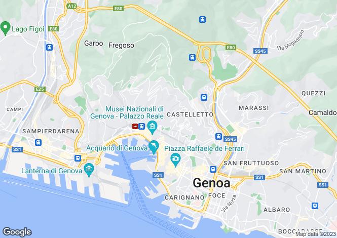 Map for Genoa, Genoa, Liguria