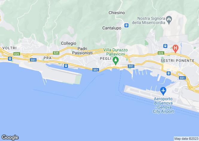 Map for Liguria, Genoa, Pegli