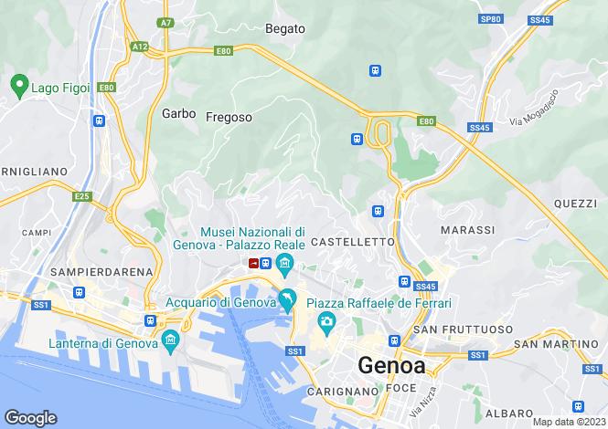 Map for Via Lorenzo Stallo, Genova, 16100, Italy