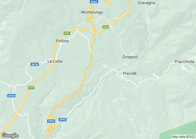Map for Pontremoli, Lunigiana, Italy