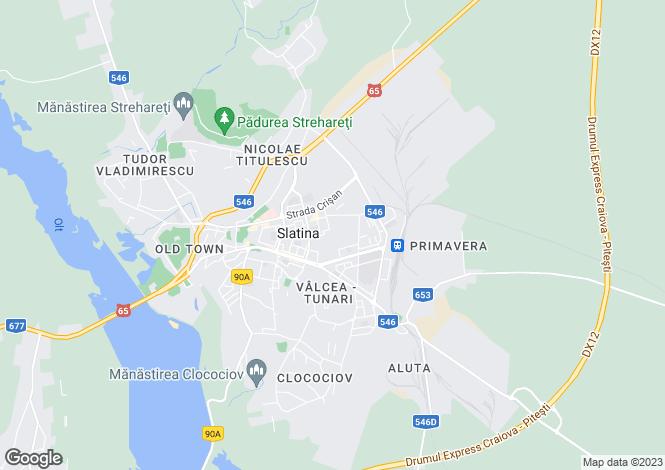 Map for Olt, Slatina