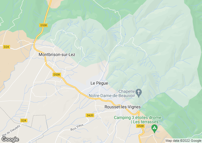 Map for LE PEGUE,