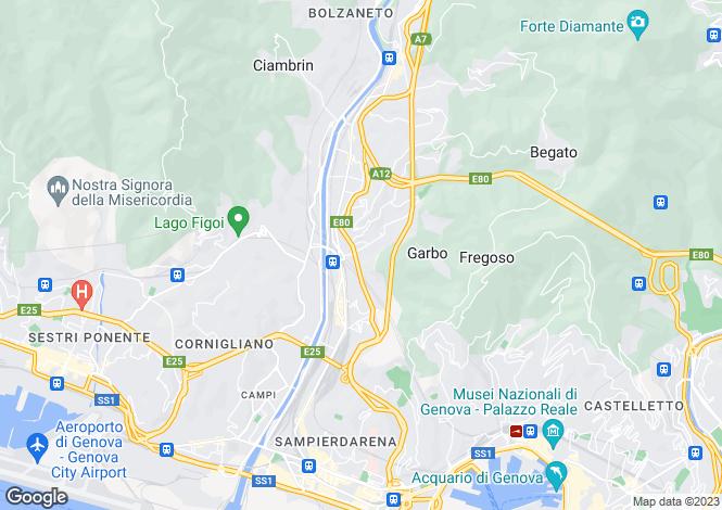 Map for Via Compagnoni, Genova, 16100, Italy