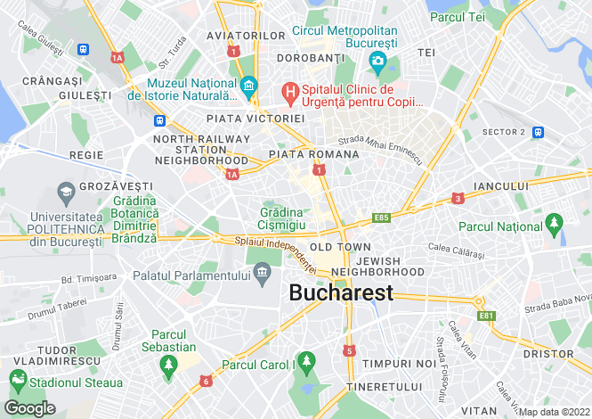 Map for Bucharest, Bucuresti