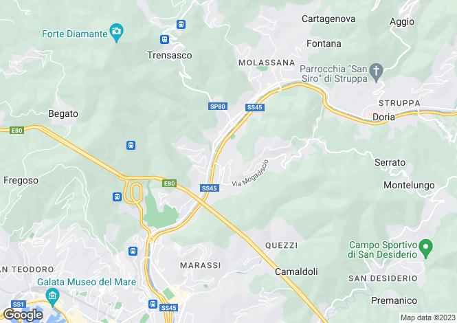 Map for Via Terpi, Genova, 16100, Italy