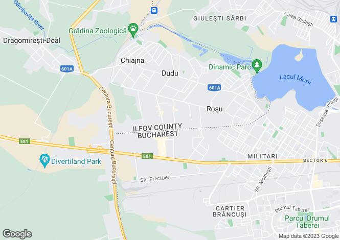 Map for Bucharest, Chiajna