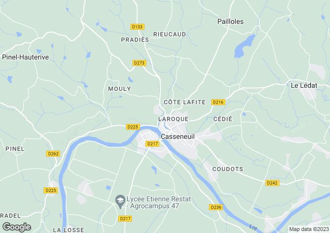Map for casseneuil, Lot-et-Garonne, France