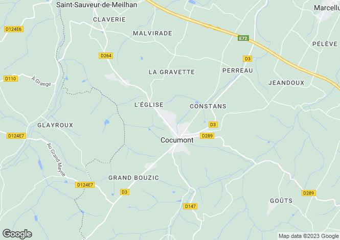 Map for cocumont, Lot-et-Garonne, France