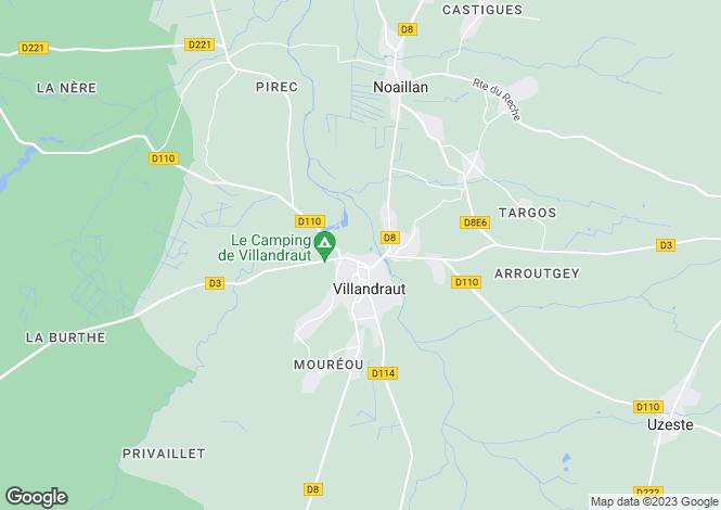 Map for villandraut, Gironde, France