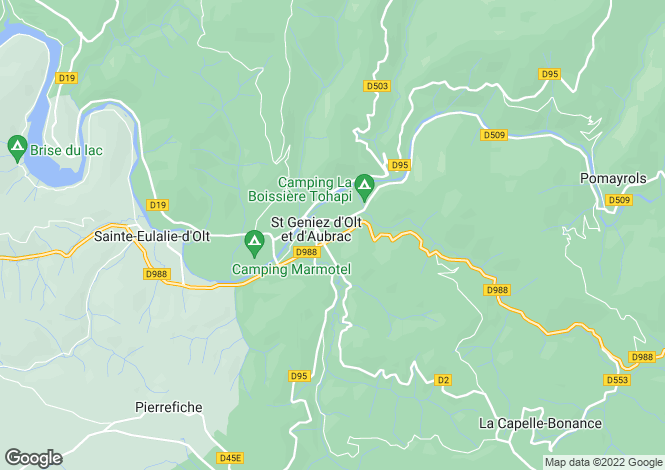 Map for Midi-Pyrenees, Aveyron, Saint-Geniez-d'Olt