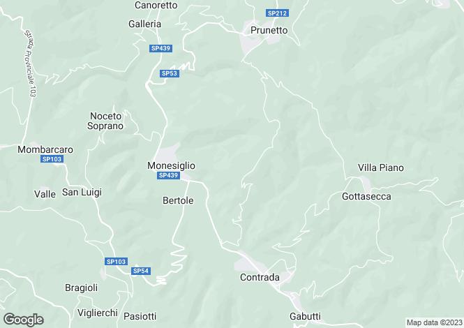 Map for Piedmont, Cuneo, Monesiglio