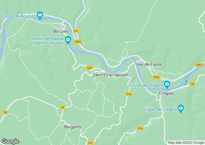 Map for St-Cirq-Lapopie, Lot, Midi-Pyrénées
