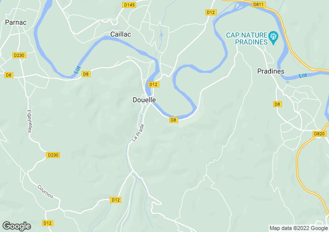 Map for DOUELLE, 46140, France