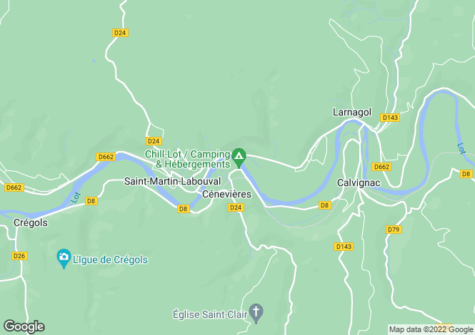 Map for Near Cenevieres, Lot, Midi-Pyrenees