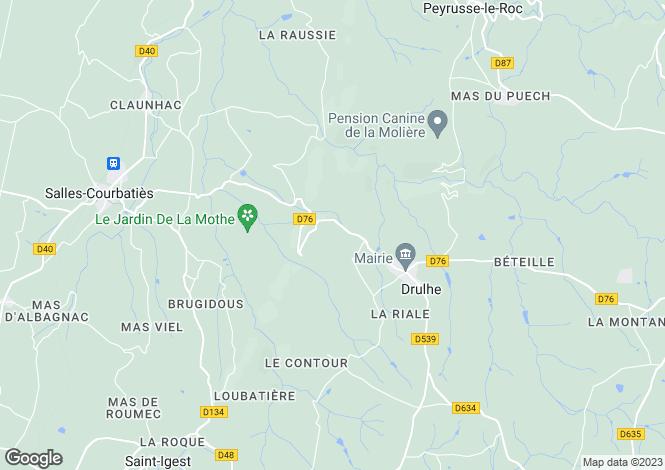 Map for Nr Druhle, Aveyron