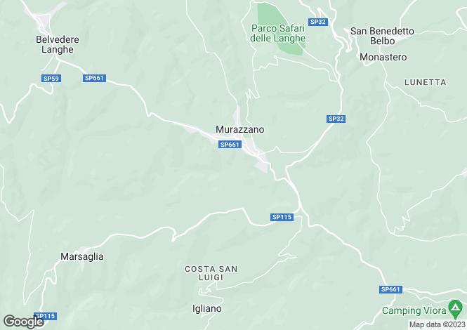 Map for Murazzano, Cuneo, Piedmont