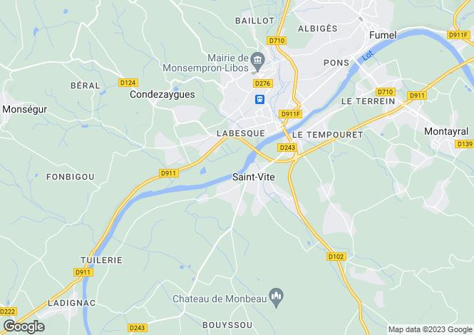 Map for Aquitaine, Lot-et-Garonne, St-Vite