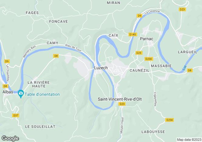 Map for Secteur: Luzech, Lot
