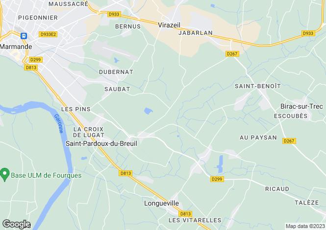 Map for Aquitaine, Lot-et-Garonne, St-Pardoux-du-Breuil