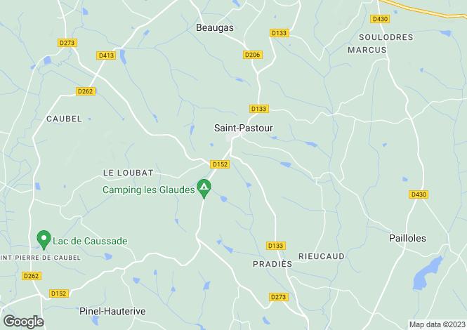 Map for Aquitaine, Lot-et-Garonne, St-Pastour
