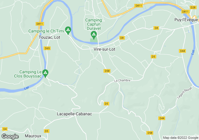 Map for vire-sur-lot, Lot, France