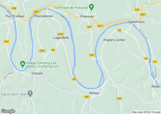 Map for lagardelle, Lot, France