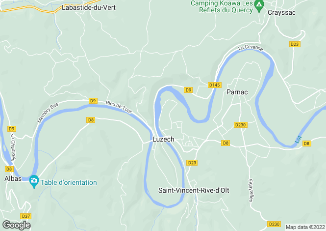 Map for Near Luzech, Lot, Midi-Pyrenees
