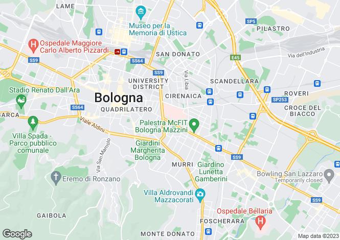 Map for Bologna