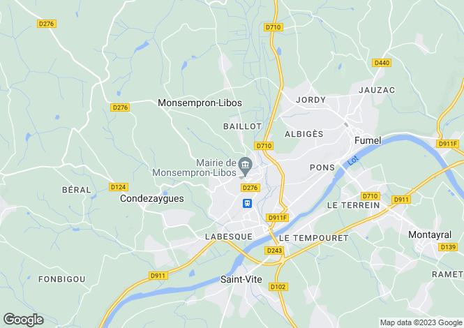 Map for Nr Monsempron Libos, Lot Et Garonne, Aquitaine
