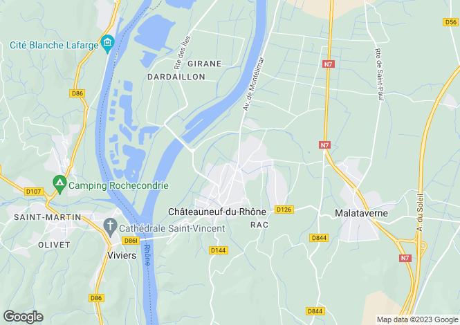 Map for montelimar, Drôme, France
