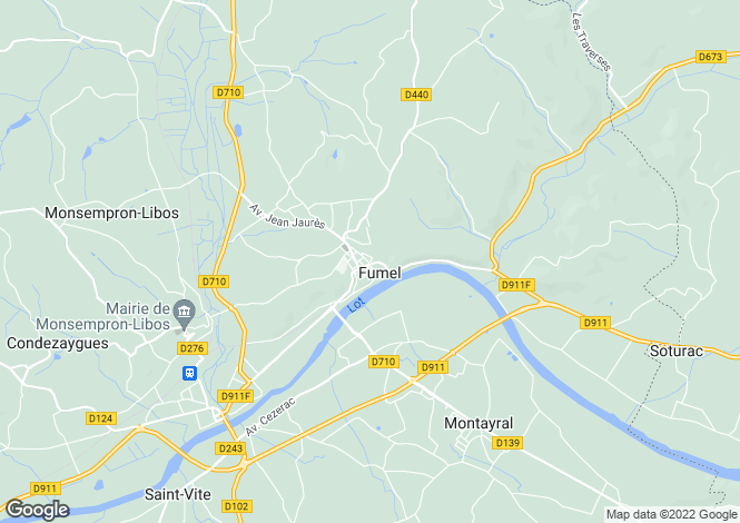 Map for fumel, Lot-et-Garonne, France