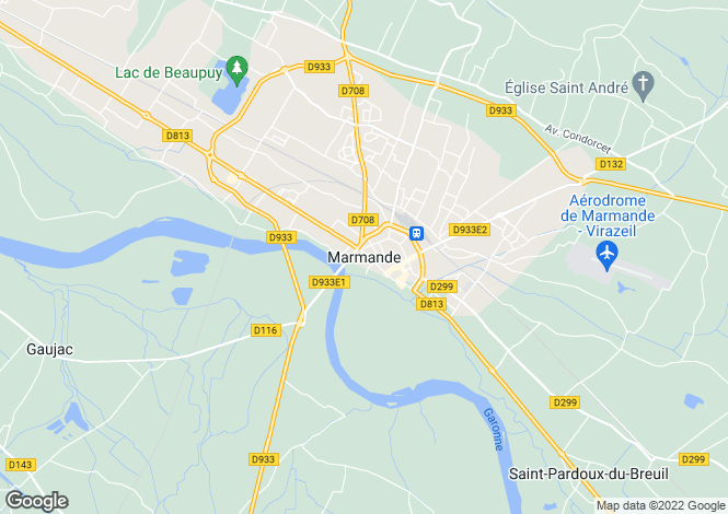Map for Marmande, Aquitaine, 47200, France