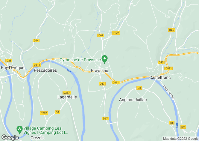 Map for Near Prayssac, Lot, South West France