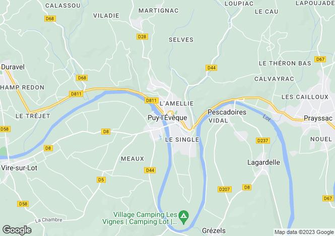 Map for Secteur: Puy L'Eveque, Lot