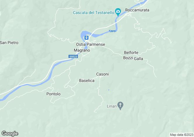 Map for Borgo Val di Taro, Parma, Italy