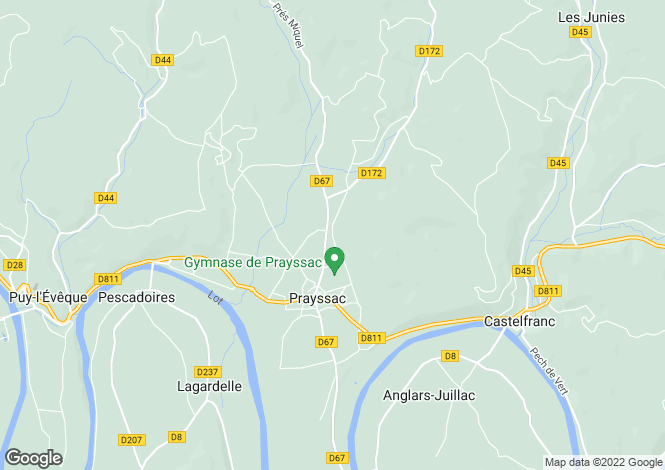 Map for Prayssac, 46, France