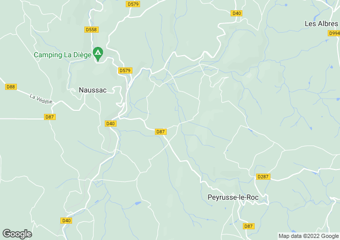 Map for Midi-Pyrenees, Aveyron, Peyrusse-le-Roc