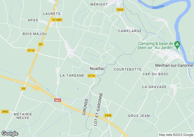 Map for Secteur: Noaillac, Gironde