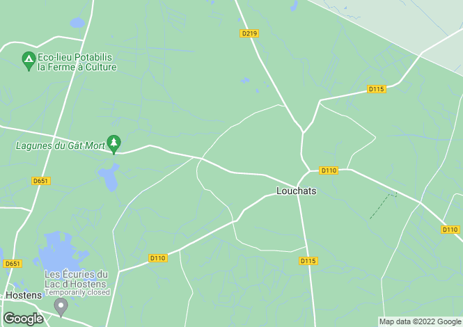 Map for louchats, Gironde, France