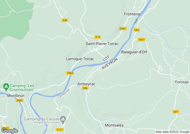Map for Midi-Pyrenees, Lot, Larroque-Toirac