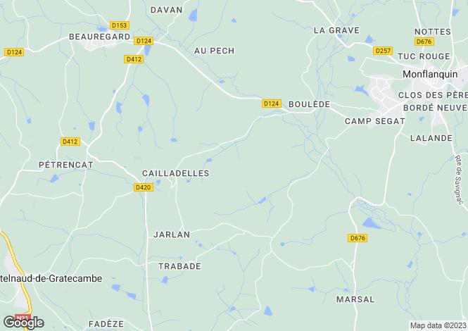 Map for Monflanquin, Lot-et-Garonne, Aquitaine