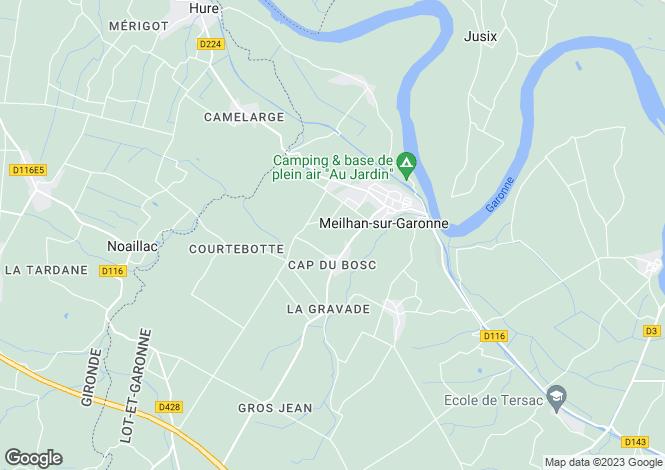 Map for Meilhan-sur-Garonne, Lot-et-Garonne, Aquitaine