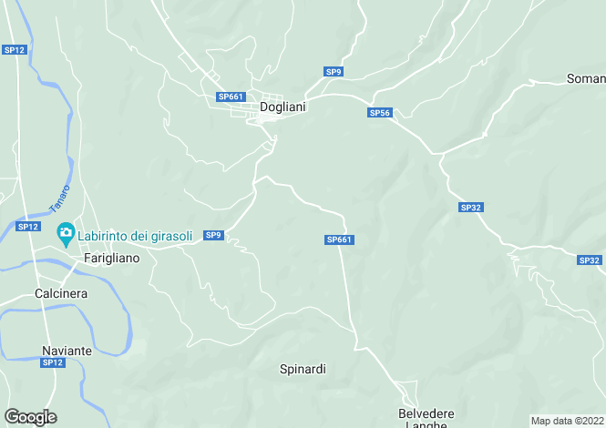 Map for Piedmont, Cuneo, Dogliani