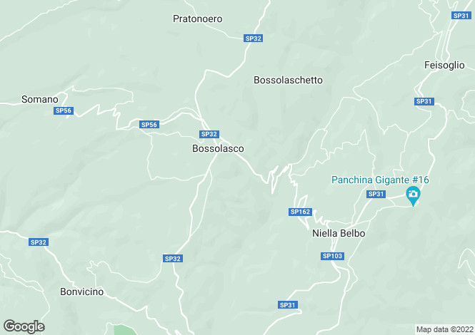 Map for Bossolasco, Cuneo, Piedmont