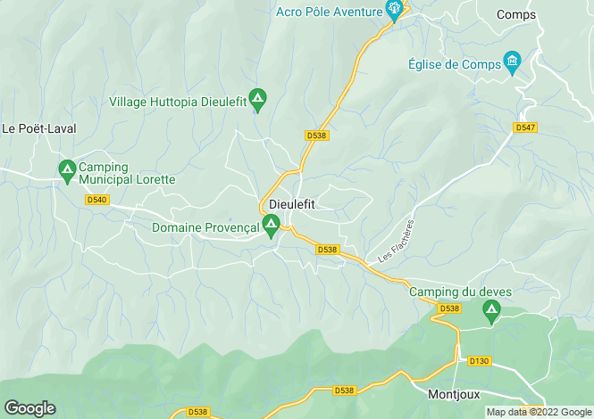 Map for Dieulefit, Rhone-Alpes, 26220, France