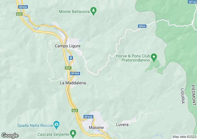 Map for Campo Ligure, Genoa, Liguria