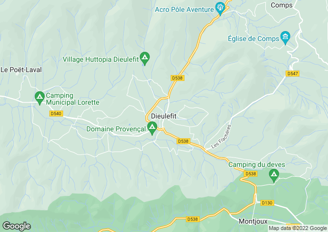 Map for Dieulefit, Rhone-Alpes, 26220, France