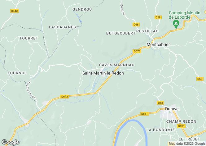 Map for Secteur: St. Martin le Redon, Lot et Garonne