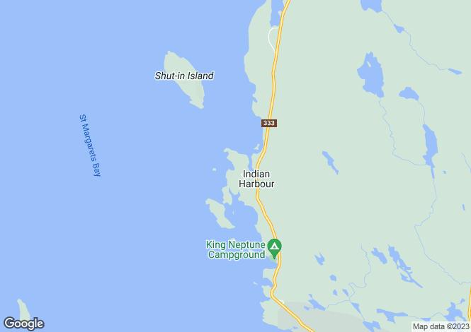 Map for Nova Scotia, Peggy`s Cove
