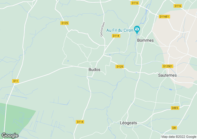 Map for budos, Gironde, France